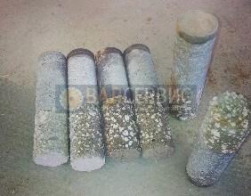 Отбор керна бетона