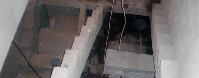 алмазная резка лестницы