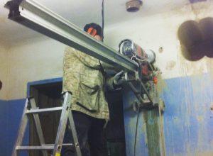 Сверление отверстий более 1 метра толщиной