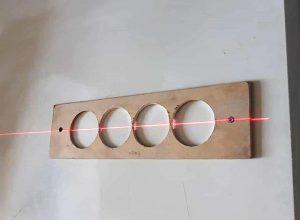 разметка при сверлении подрозетников с использованием шаблона